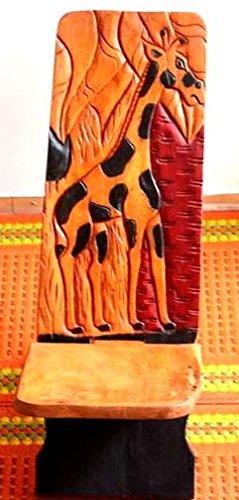 AFRIQUE-ART-DECORATION-Grande-chaise--palabre-giraphe-CPAG1