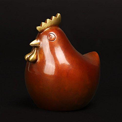 ZLR Kreative Reine Kupfer Skulptur Fu Huhn Dekoration Glück Schatz In Die Lunar New Year Maskottchen Geschenk Handwerk Ornamente