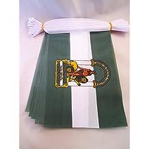GUIRNALDA 6 metros 20 BANDERAS de ANDALUCÍA 21x15cm - BANDERA ANDALUZA 15 x 21 cm - BANDERINES - AZ FLAG
