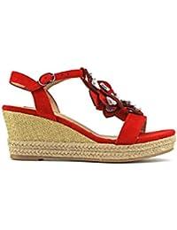 Amazon.es  zapatos rojos de tacon - MODELISA   Zapatos para mujer ... 0fad0e737508