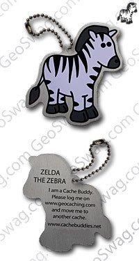 Zelda The Zebra Travel Tag TB Coin Coins Pendant Travel Tag TravelBug Geocaching Geocaching Travel Bug Gift, Trackable,