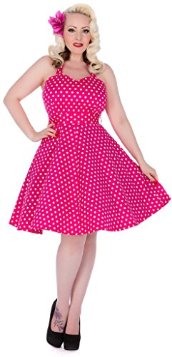 Dolly and Dotty Penny, Robe Femme Rose Vif