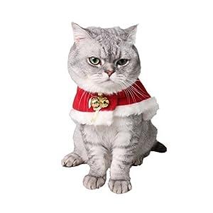 Arpoador pour animal domestique de Noël Cape Chat Noël Fête Costume Cape Rouge