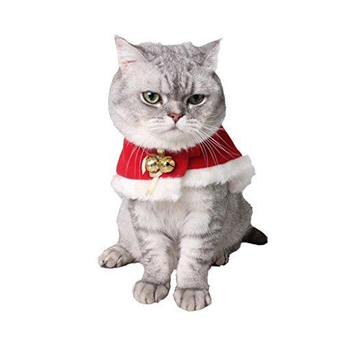 (Arpoador Pet Weihnachten Umhang Katze Xmas Party Kostüm Cape rot)