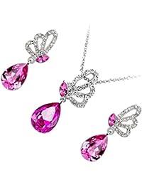 855074e91143 Amazon.es  Mariposas - Chapado en plata   Juegos de joyas   Mujer ...