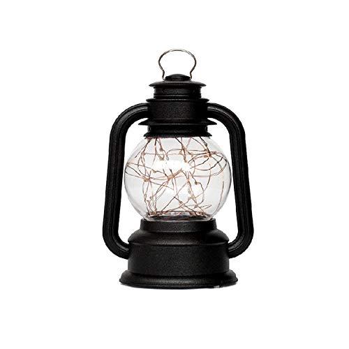 Bedolio lámpara de queroseno retro usb night light creativo árbol de fuego flor de plata led light night lámpara de aceite casera, negro