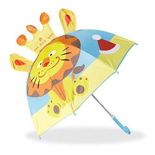 Relaxdays Paraguas Infantil de León en 3D