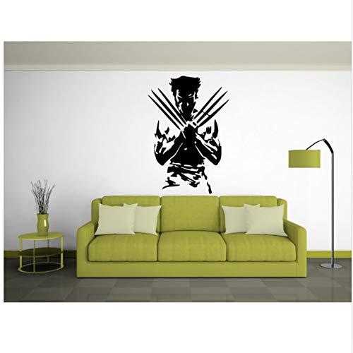 Berühmte Superheld Männer Sexy Silhouette Wandaufkleber Home Coole Mode Stil Dekor Kunst Vinyl Wandbild Aufkleber 42X61 Cm