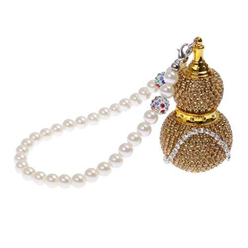 Preisvergleich Produktbild AMZtronics MagiDeal Perlen Kette Kristall Diamand K¨¹rbis Anhnger Leere Glas