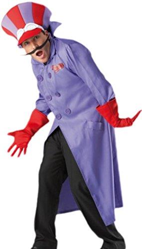 erdbeerloft - Herren Dick Dastardly Kostüm, Karneval, Fasching, XL, (Kostüme Dick Dastardly)