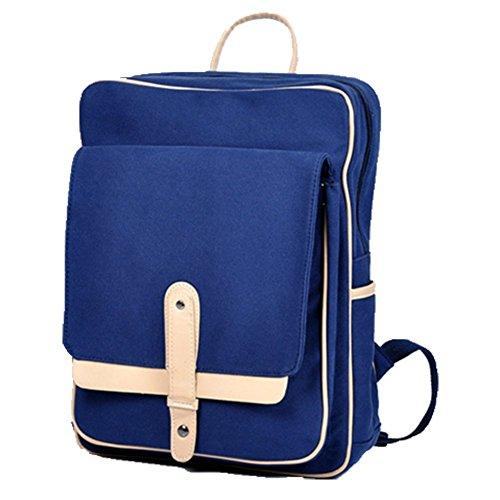 Ohmais Rücksack Rucksäcke Rucksack Backpack Daypack Schulranzen Schulrucksack Wanderrucksack Schultasche Rucksack für Schülerin blau