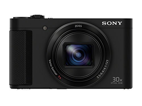 Sony DSC-HX80 Kompaktkamera (18,2 Megapixel, 30x opt, Zoom, 7,5cm (3 Zoll) Display, OLED Sucher, 180° Selfie-Display) schwarz