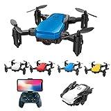 kingko Mini Drohne SG800 Mini Faltbarer Wifi FPV 720P Kamera Drone 2.4G 4CH 6-Achsen-Gyro Helicopter ferngesteuert mit Fernbedienung Spielzeug Drone für Kinder ab 12 Jahre und Anfänger (Blau)