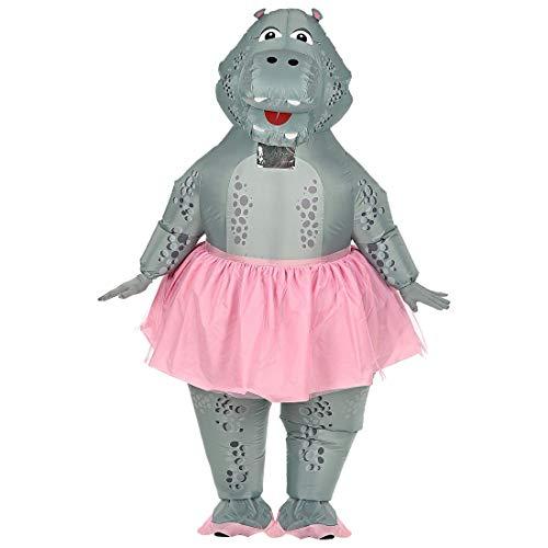 Widmann - Aufblasbares Kostüm Hippo ()