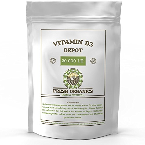 VITAMIN D3 20.000 I.E. DEPOT – 250 / 500 Tabletten I Vegan I Vorratspackung XXL I Sonnenschein Vitamin D-3 – 1000 I.E. alle 20 Tage I Made in Germany (500 Tabletten)
