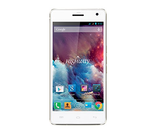 Wiko Highway Smartphone (12,7 cm (5 Zoll) Display, 16 GB interner Speicher, Android 4.4.2 Jelly Bean) champagner/weiß