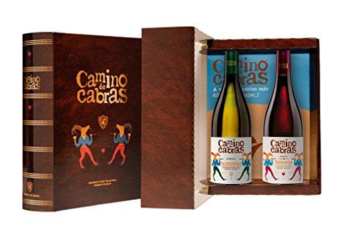 CAMINO DE CABRAS estuche regalo,Godello + Mencia, colección de vinos Gourmet 2 botellas x 750 ml