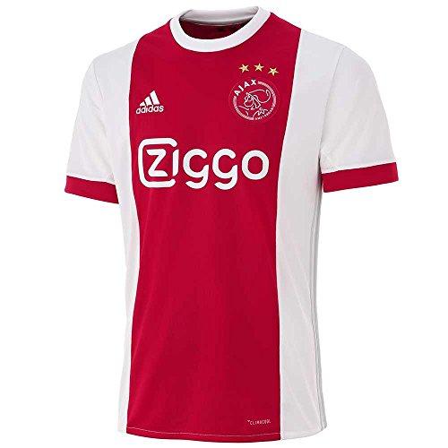 adidas Herren Replica Ajax Heimtrikot, White/Bolred, L (Berühmte Shirts Streifen Stars)
