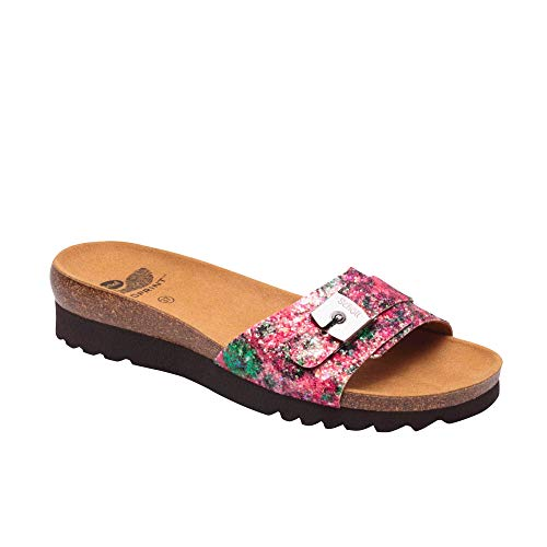 DR Scholl Ginni Glitter Clogs with Flower - Multi