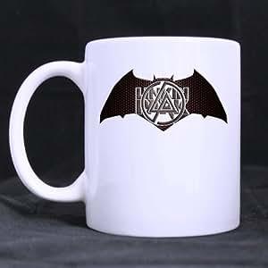 Linkin Park en forme de chauve-souris Blanc personnalisé Mug Tasse à Café Mug personnalisé créative lait Tasse à thé 11 oz