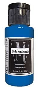 Badger Air-Brush Company, 2 Ounce Bottle Minitaire Airbrush  Ready, Water Based Acrylic Paint, Ghost Tint: Blue