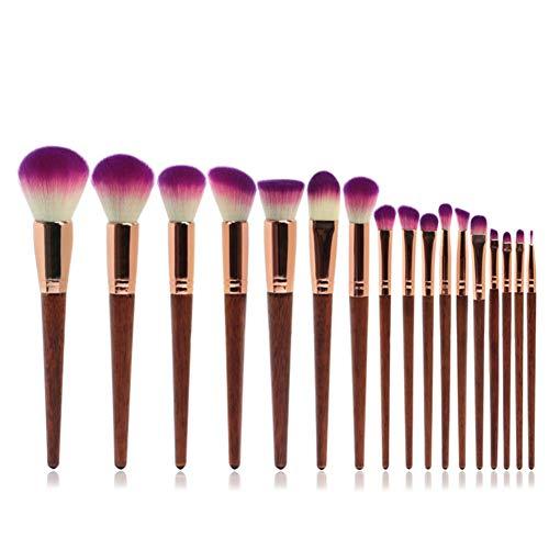 Lxmhz Brosse de Maquillage Cosmétique Makeup Brushs 17 lâche Poudre Blush Fondation Contour Ombre à paupières Sourcils lèvre Cils Curling Peigne à Sourcils Pinceaux kit