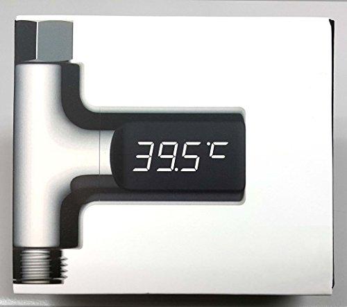 LED Duschthermomter Digital, Badethermometer für Babys, Kinder, ältere Leute, Haustiere, 360 Grad-drehbare Anzeige für bessere Ablesbarkeit, wasserdicht - Anzeige: Celsius