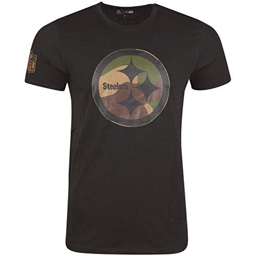 New Era Shirt - NFL Pittsburgh Steelers Schwarz/Wood - 3XL (Pittsburgh Steelers 3xl)