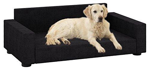 VCM 912153 Hundesofa Schlafsofa, Stoff, schwarz, 10 x 70 x 40 cm