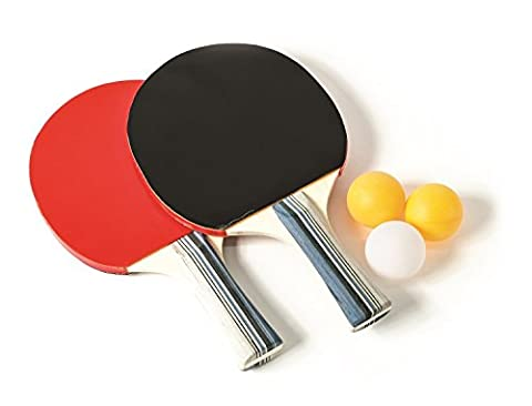 Laser Sport Tisch Tennis Set kommt mit zwei Tischtennis Schläger Paddeln und 3Bälle gerade Griff