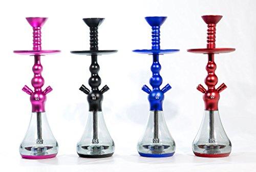 Shisha - Cachimba Walden X3 (50 cm) - Colores: Negro, Azul, Rojo o Rosa