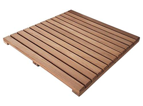 Loseta rígida madera teca tratada aceite vegetal