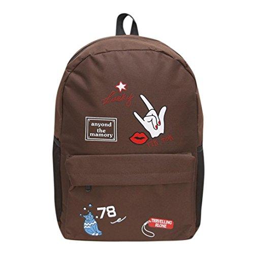 Tasche, feiXIANG Schulter Bookbags Schule Reise Rucksack Kaffee