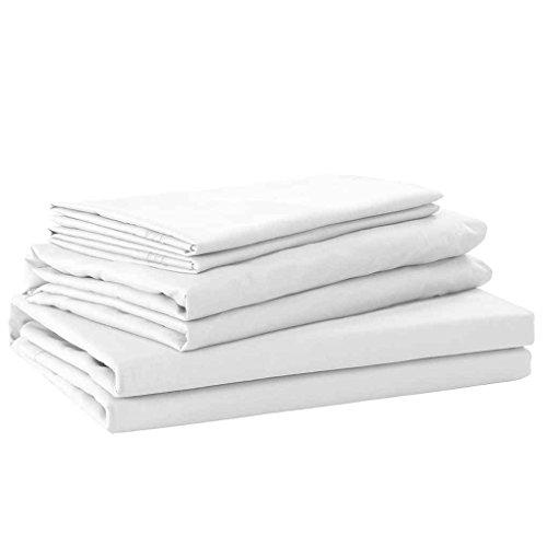 Lidahaotin 4 Stück Bettlaken Set Solid Color Pillowcase Bettlaken Toal Bettdecke Kit Startseite Bettwäsche Weiß 230 * 258cm (Solid-bettwäsche-set)
