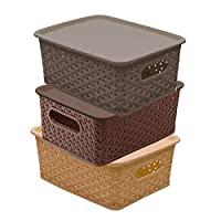 Kuber industries multipurpose solitaire storage basket is made of plastic material so this is very durable, long-lasting and attractive. This basket is very useful and multipurpose, you can use it anywhere like office, living room, kitchen, study roo...