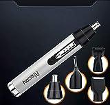 SGLL Elektrorasierer Für Männer Wiederaufladbare Rotary Rasierer Rasierer Bart Trimmer Nase Augenbrauen 4 In 1 Akku-Wasserdichte USB-Schnellladung (Weiß)