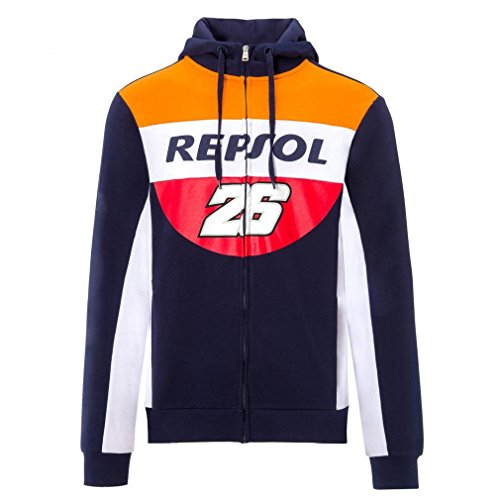 Price comparison product image 2018 Dani Pedrosa 26 Mens Hoodie Hoody Zull Zip Sweatshirt Repsol Honda MotoGP
