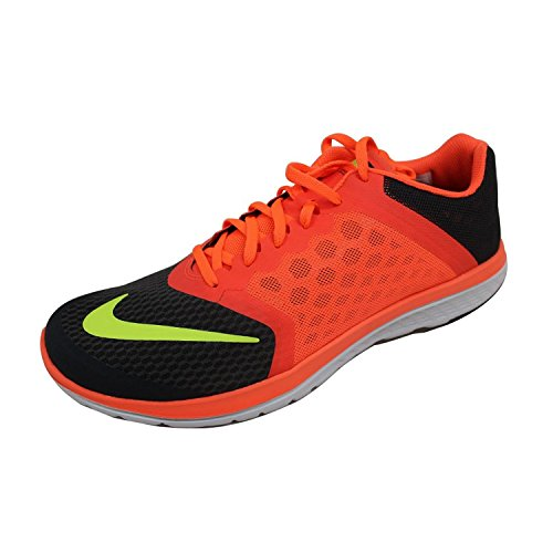 Nike Mens FS Lite Trainer II Black/White/Antracite Training Shoe 10.5 Men US Anthracite/Hyper Orange/Volt
