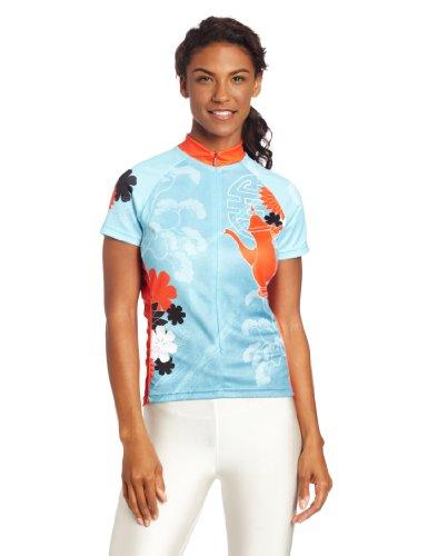 Primal Wear Damen Tea Time Radtrikot, damen, Blau, Orange (Trikot Wear Damen Primal)