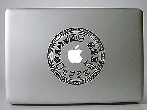 Vati Feuilles Art amovible plats créatifs rondes Decal Sticker Peau noire pour Apple Macbook Pro Air Mac 13