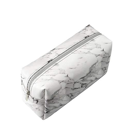 Hustar Marmor Textur PU Federmappe Mäppchen Kosmetiktasche Klein Makeup Taschen für Handtasche (Kleine Mädchen Kosmetiktasche)