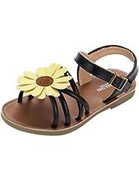 8c9430c45ae Sandalias Niña verano ❤ Amlaiworld Sandalias romanas de niña bebé de flores  Zapatos de princesa Zapatos planos…