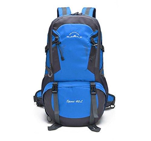 LQABW Outdoor-Schulter-Climbing-Reisen Männer Und Frauen Sport Und Freizeit Paket-wasserdicht Computer-Studenten-Tasche Blue