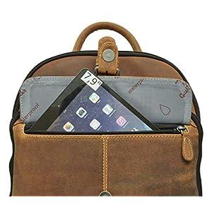 """41zyLCyiAHL. SS300  - Mochila Gusti Leder studio Alena Bolso Diario de Cuero de Búfalo MacBook Air 11"""" Vintage Marrón 2M39-20-5wp"""