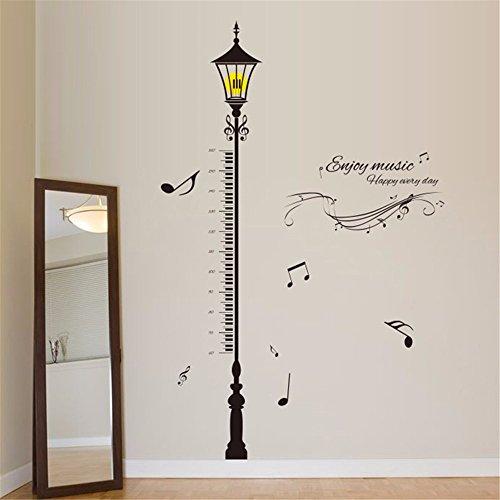 Bomeautify adesivi e murali da parete murale adesivi murali musica europea lampada camera da letto soggiorno decorazioni adesivi murali ingresso creativo muro di fondo, 90 * 60 cm