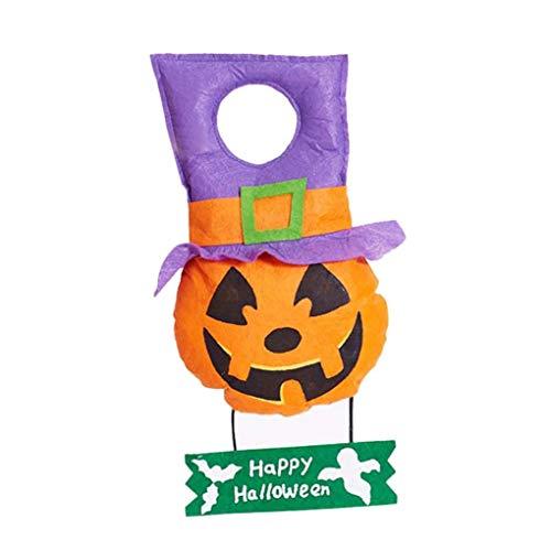 LCLrute Dekorative Requisiten Halloween Spielzeug Halloween hängende Dekoration Tür Happy Halloween Zeichen Süßes Oder Saures Party Spielzeug (A)