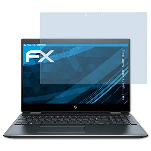 atFolix Schutzfolie kompatibel mit HP Spectre x360 15-df0106ng Folie, ultraklare FX Bildschirmschutzfolie (2X)