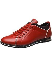 Chaussures ADESHOP Mode Hommes l Angleterre Style Sportif Les Affaires Les  Loisirs Chaussures en Cuir 5da9d617173a