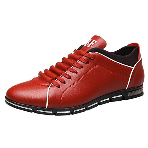 EU39-EU46 ODRD Schuhe Herrenmode aus festem Leder Business Sport Flache runde Zehe Freizeitschuhe Stiefel Stiefeletten Wanderstiefel Combat Hallenschuhe Worker Boots Laufschuhe ()