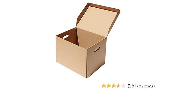 "50 Foolscap Box File Archive Cardboard Boxes 15.75 x 4 x 11/"""
